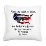 2nd Amendment Square Canvas Pillow