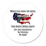 2nd Amendment Round Car Magnet