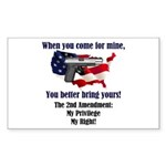2nd Amendment Sticker (Rectangle 10 pk)
