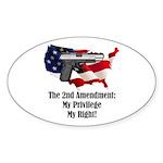 2nd Amendment Sticker (Oval 50 pk)