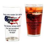 2nd Amendment Drinking Glass