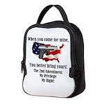 2nd Amendment Neoprene Lunch Bag