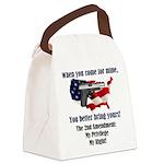 2nd Amendment Canvas Lunch Bag