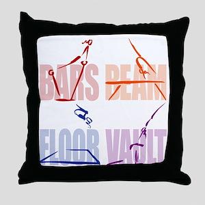 Womens Gymnastics Throw Pillow