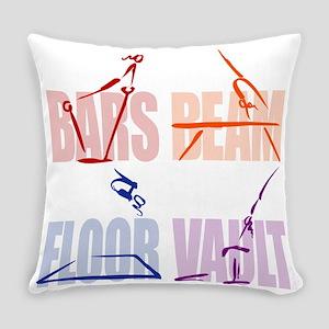 Womens Gymnastics Everyday Pillow