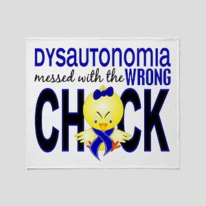 Dysautonomia MessedWithWrongChick1 Throw Blanket