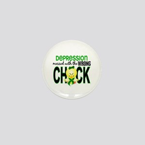 Depression MessedWithWrongChick1 Mini Button