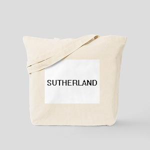 Sutherland digital retro design Tote Bag