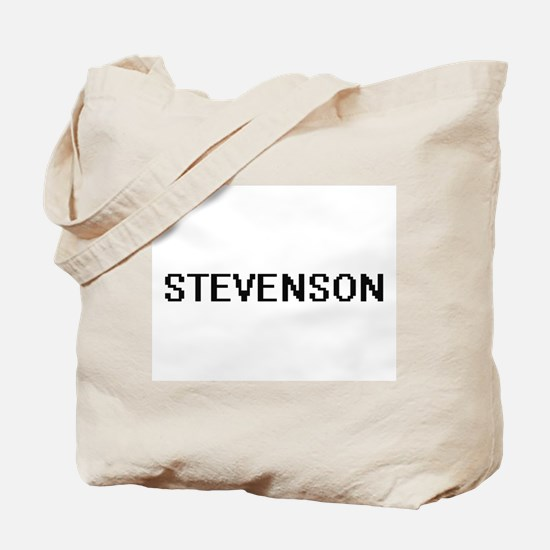 Stevenson digital retro design Tote Bag