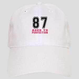 87 Aged To Perfection Birthday Designs Cap