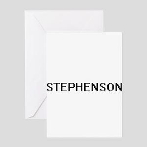 Stephenson digital retro design Greeting Cards