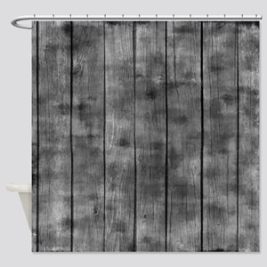 Dirty Wooden Fence Shower Curtain