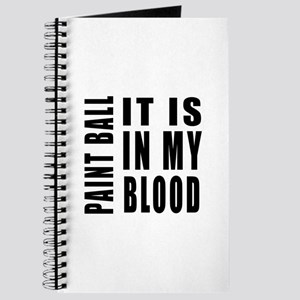 Paint Ball it is in my blood Journal