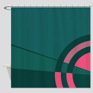 Teal Majestic Shower Curtain