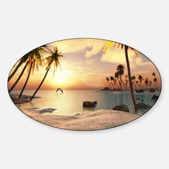 Tropical Beach Decal