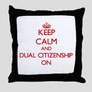 Dual Citizenship Throw Pillow