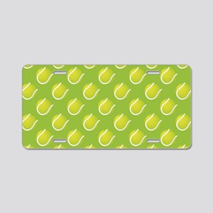 Tennis Balls Aluminum License Plate