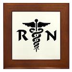 RN Nurse Medical Symbol Framed Tile