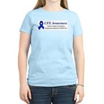 CFS Awareness blue ribbon Women's Light T-Shirt