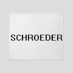 Schroeder digital retro design Throw Blanket