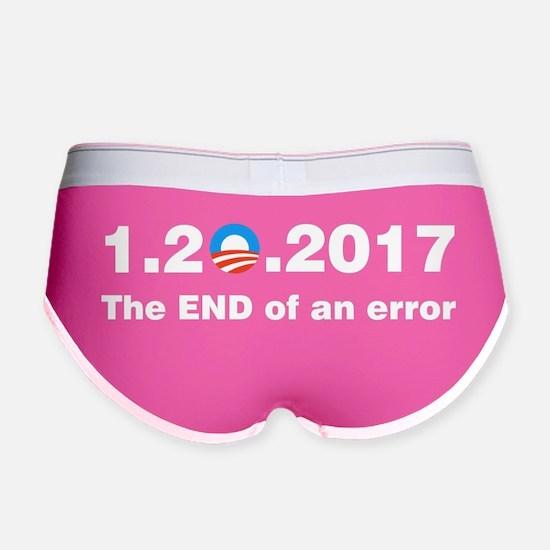 Anti Obama The end of an error Women's Boy Brief