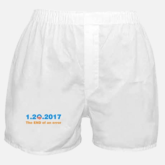 Anti Obama The end of an error Boxer Shorts