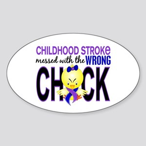 Childhood Stroke MessedWithWrongChi Sticker (Oval)