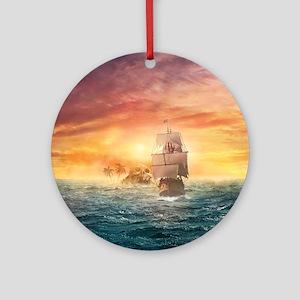 Pirate ship Ornament (Round)