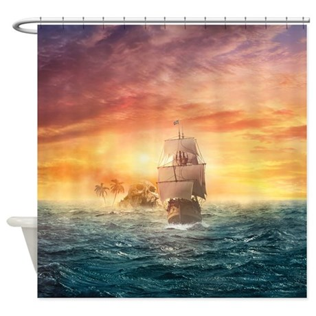 Pirate Ship Shower Curtain By WickedDesigns4