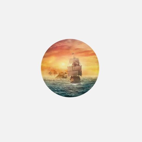 Pirate ship Mini Button