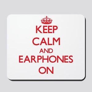 EARPHONES Mousepad