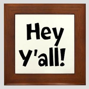 Hey Yall Framed Tile