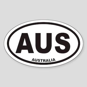 Australia AUS Oval Car Sticker
