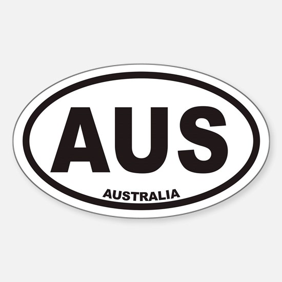 Australia AUS Oval Car Decal