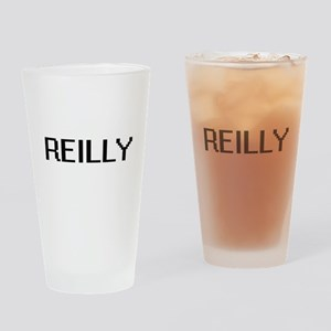 Reilly digital retro design Drinking Glass