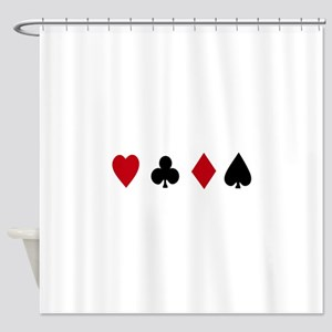 Card Suits Shower Curtain