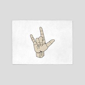 Sign Language 5'x7'Area Rug