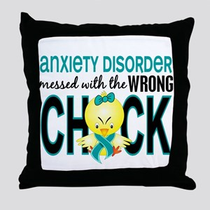 Anxiety Disorder MessedWithWrongChick Throw Pillow