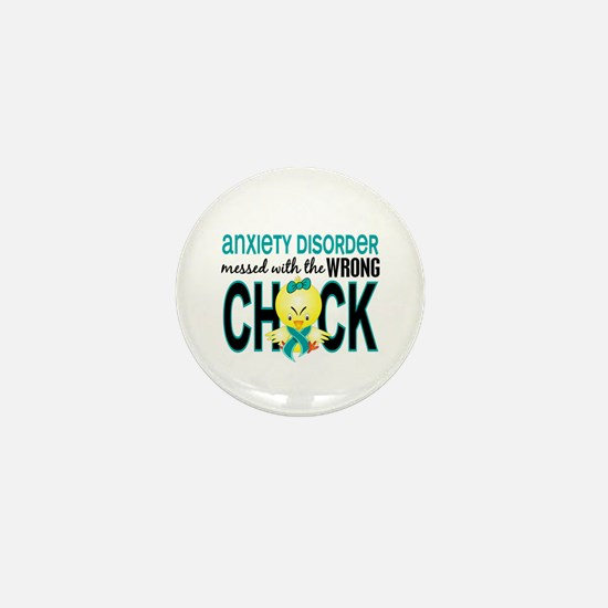 Anxiety Disorder MessedWithWrongChick1 Mini Button