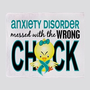 Anxiety Disorder MessedWithWrongChic Throw Blanket