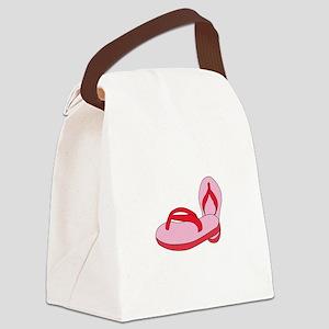 Flip Flops Canvas Lunch Bag