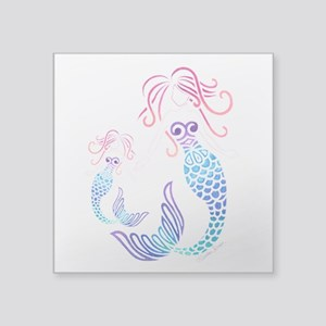 Mom And Daughter Tribal Mermaid Sticker