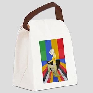 Popart Showgirl Canvas Lunch Bag