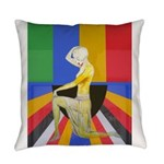 Popart Showgirl Everyday Pillow