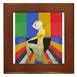 Popart Showgirl Framed Tile