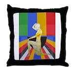 Popart Showgirl Throw Pillow