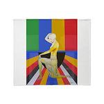 Popart Showgirl Throw Blanket