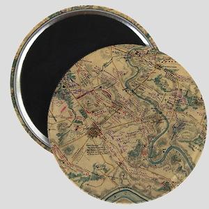 Vintage Antietam Battlefield Map (1862) Magnet