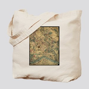 Vintage Antietam Battlefield Map (1862) Tote Bag