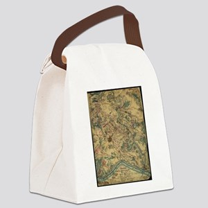 Vintage Antietam Battlefield Map  Canvas Lunch Bag